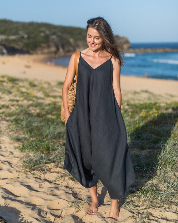 Willow-jumpsuit-charcoal-front